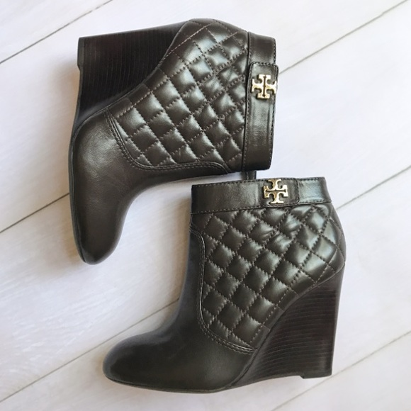 fab8284e7ab Tory Burch Brown Quilted Leila Booties. M 5b5b5a4c619745f824e2c854